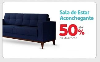 Até 50 % OFF em produtos selecionados para sala no site do Extra