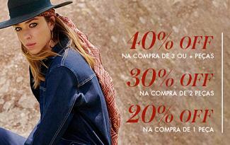 Desconto Progressivo de até 40% OFF na marca Le Lis Blanc no site da Shop2Gether