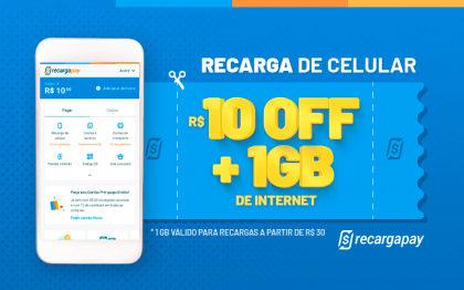 Cupom de R$10 OFF em Recarga de Celular para novos usuários RecargaPay!