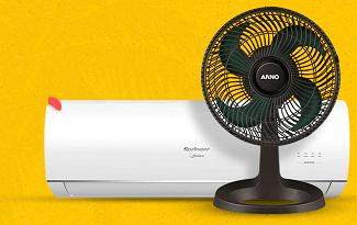 Até 40% OFF em seleção de Ar Condicionado e Ventilador no site do Ponto Frio