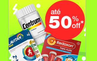 Até 50% OFF em Vitaminas no site da Drogaria Onofre