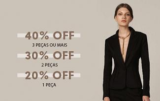 Desconto Progressivo de até 40% OFF na marca Le Lis Blanc no site da OQVestir