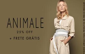 Cupom de 25% OFF + Frete Grátis em compras de Animale no site da Shop2Gether