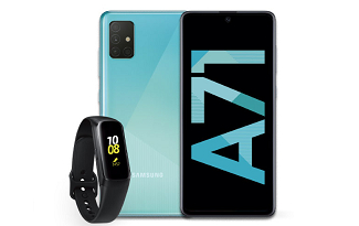 Compre um Galaxy A71 e ganhe um Galaxy Fit no site da Fast Shop