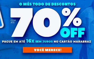 Mês do Consumidor: Até 70% OFF em lista selecionada no site da Marabraz