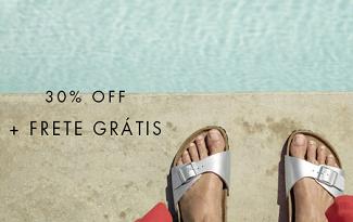 Cupom de 30% OFF + Frete Grátis em compras de Birkenstock no site da Shop2Gether