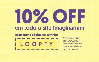 Desconto de 10% em todo o site da Imaginarium!