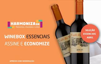 Aproveite até 15% OFF na assinatura mensal Winebox Essenciais no site da Wine