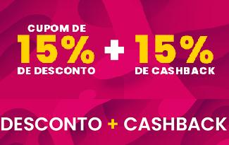 Cupom de 15% OFF + 15% de Cashback  no site da Livraria Cultura
