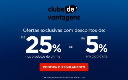 Desconto de até 25% em produtos selecionados no site Casas Bahia!