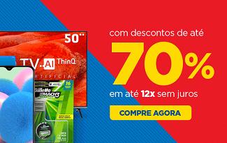 Aproveite até 70% OFF e Frete Grátis na Maratona de Descontos no site da Casas Bahia