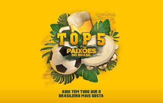 Seleção Top 5 Paixões do Brasil com até 45% OFF no site da Casas Bahia