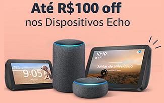 Até R$100 OFF em dispositivos Echo para o Dia das Mães no site da Amazon
