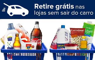 Faça suas compras online e retire grátis nas lojas sem sair do carro no site do Carrefour