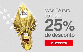 Até 25% OFF + R$10 OFF em lista Páscoa Ferrero Rocher no site da Americanas