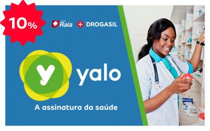 Ganhe 10% OFF na assinatura do Yalo e aproveite 60% OFF em medicamentos na Droga raia!
