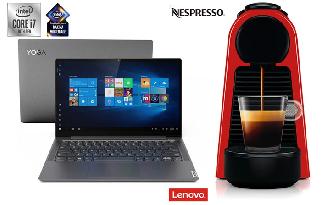 Na compra de um Lenovo YOGA S740 i7 ganhe uma mini Nespresso no site da Fast Shop