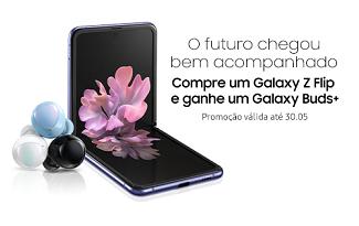 Compre o novo Samsung Galaxy Z Flip e ganhe um Galaxy Buds no site da Shoptime