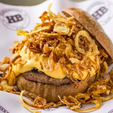 Burger HB07 + Fritas palito individual + Bebida por R$35