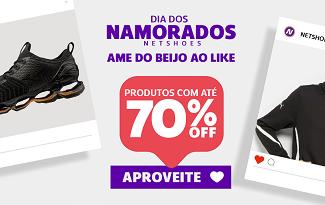 Confira a seleção de Dia dos Namorados com até 70% OFF e FRETE GRÁTIS no site da Nethsoes