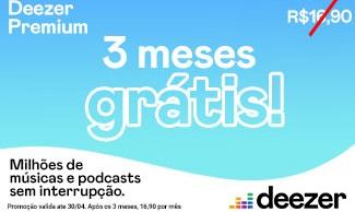 GANHE 3 meses de Deezer Premium para ouvir mais de 56 milhões de músicas!