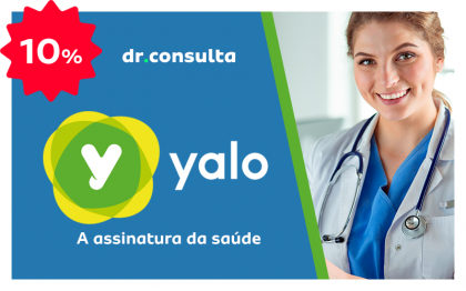 Ganhe 10% OFF na assinatura do Yalo e aproveite Consultas Dr Consulta por apenas R$40!