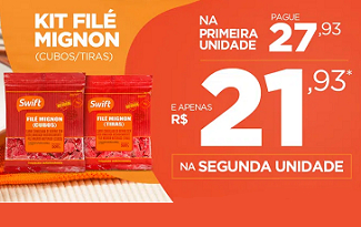 Pague menos na Segunda Unidade do Kit Filé Mignon no site da Swift