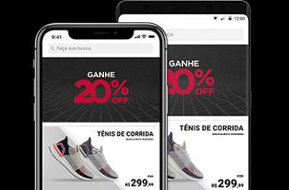 Cupom de 20% OFF em compras pelo app da Centauro