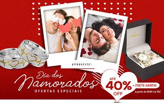 Aproveite até 40% OFF e Frete Grátis para o Dia dos Namorados no site da Casa das Alianças