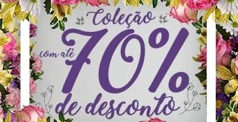 Coleção até 70% OFF no site da Giuliana Flores