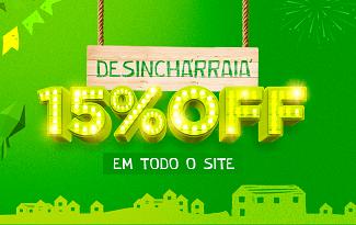 Cupom de 15% OFF em todo site da Desinchá