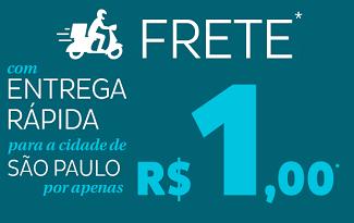 Aproveite o Frete Rápido para cidade de São Paulo por R$1 real no site da Droga Raia