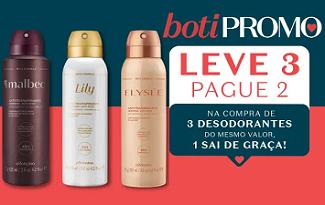 Leve 3 e Pague 2 em seleção de Desodorantes no site da O Boticário