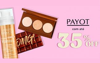 Até 35% OFF em produtos Payot no site da Época Cosméticos