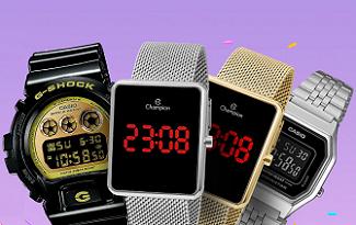 Até 20% OFF em seleção de grandes marcas de Relógios no site do Extra