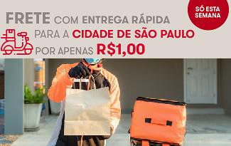 Frete Especial por apenas R$1 real para cidade de São Paulo no site da Drogasil