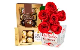 Ganhe Frete Grátis em seleção Ferrero Rocher no site da Giuliana Flores