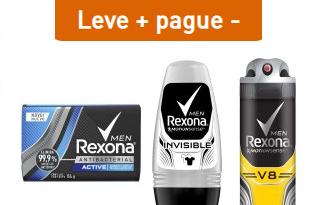 Compre 3 produtos e ganhe 25% OFF em seleção Rexona no site da Droga Raia