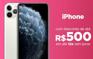 Seleção de Iphones com até R$500 OFF no site da Casas Bahia