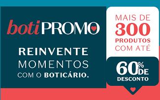 Aproveite a BotiPromo com até 60% OFF no site da O Boticário