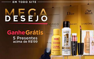 Ganhe 5 presentes em compras acima de R$199 em lista no site da Beleza na Web
