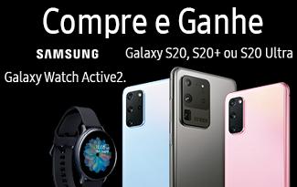 Compre o Galaxy S20, S20+ ou S20 ULTRA e ganhe um Galaxy Active2 no site da Fast Shop