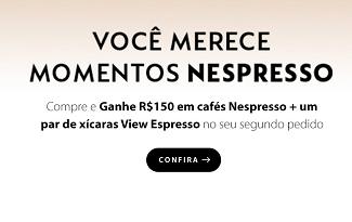 Compre uma máquina Nespresso e ganhe R$150 em cafés da marca no site da Fast Shop