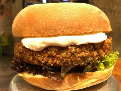 Burger Veggie Charlie Parker + Batata + Refrigerante por R$35