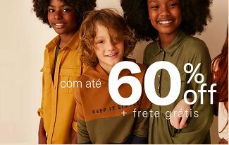 Até 60% OFF + Cupom de 10% OFF EXTRA no site da Hering Kids