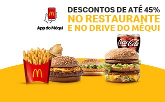Descontos de até 45% no Drive-Thru e restaurante no App do McDonald's!