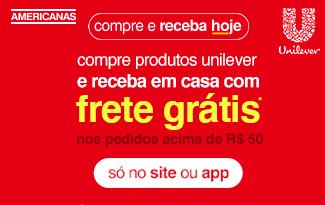 Compre produtos Unilever e receba com Frete Grátis no site da Americanas