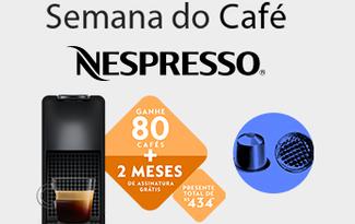 Ganhe 80 cápsulas + 2 meses de assinatura de Café Nespresso no site da Fast Shop