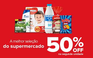 Saldão com 50% OFF na segunda unidade + R$15 OFF EXTRA no site do Carrefour