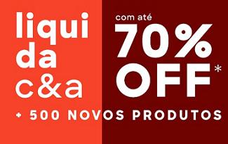 Até 70% OFF + FRETE GRÁTIS + R$10 OFF em Liquidação no site da C&A